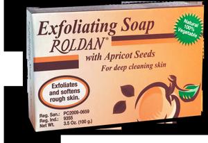 Jabón exfoliante Roldan